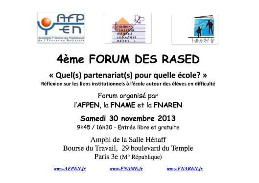 Affiche A4 Forum2013 - copie