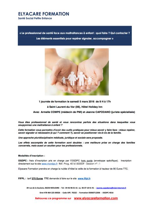 PDF Programme formation maltraitances à enfants 5 mars 2016
