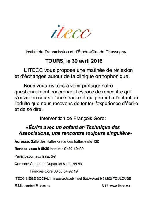INVITATION TOURS 30 AVRIL 2016