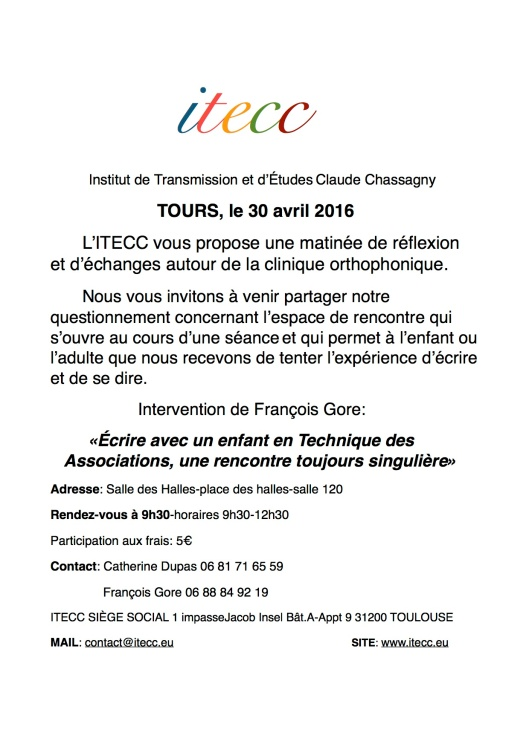 INVITATION TOURS 30 AVRIL 2016