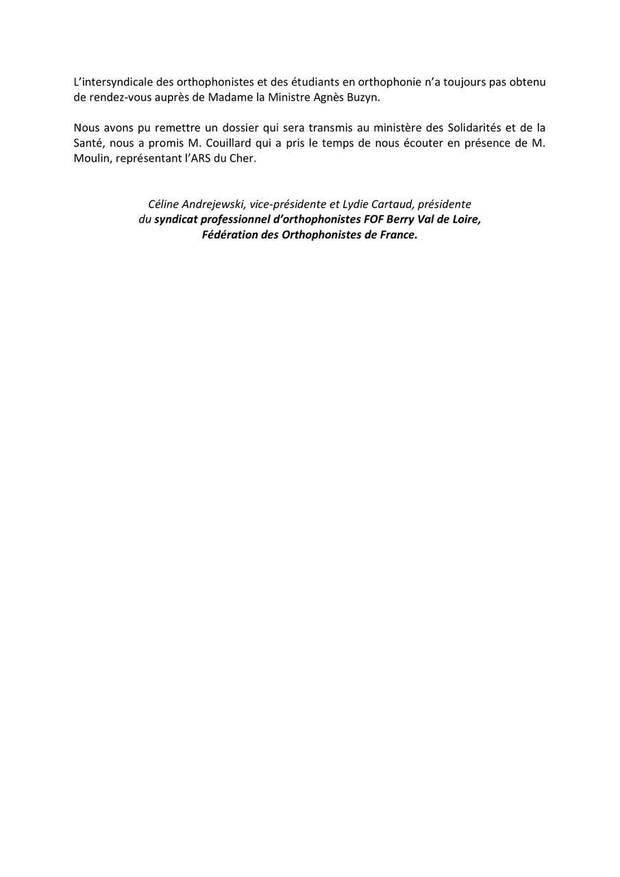 Orthophonistes du Cher reçues par le conseiller santé du 1er ministre-3 .jpeg